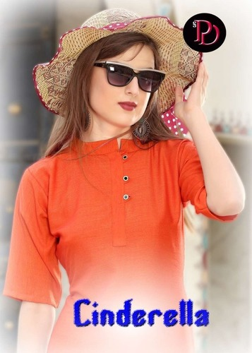 Party Wear Plain Kurti