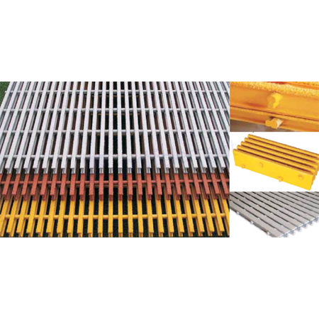 Moulded-Pultruded Gratings
