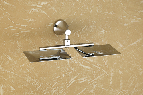 Brass Double Soap Dish Sheet