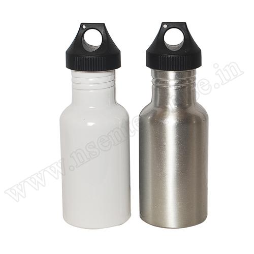 Big Mouth White & Silver Bottle