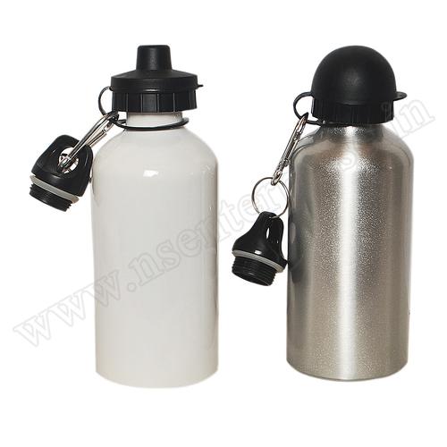 Double Sipper White & Silver Bottle