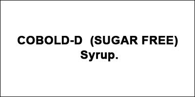 COBOLD-D (SUGAR FREE) Syrup