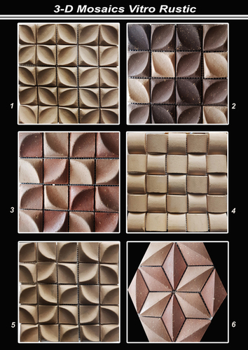 3D Mosaic Metallic Glaze Tiles