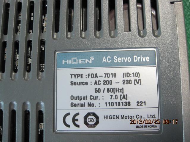 HIGEN SERVO DRIVE FDA7010