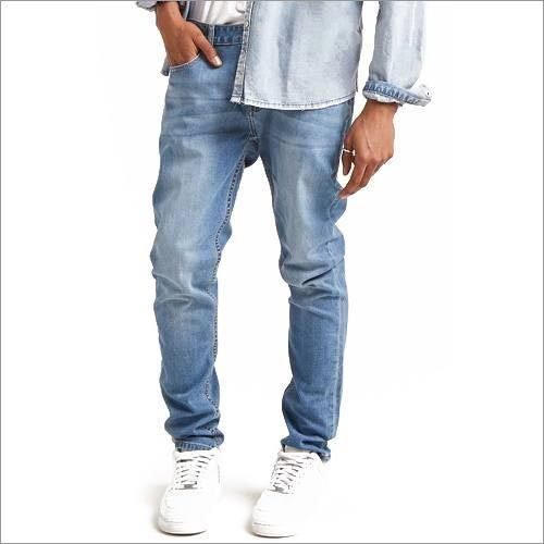 Mens Faded Wash Skinny Jeans