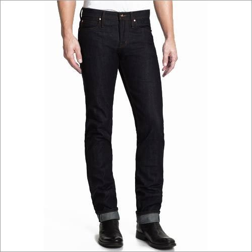 Mens Skinny Fit Raw Selvedge Indigo Jeans