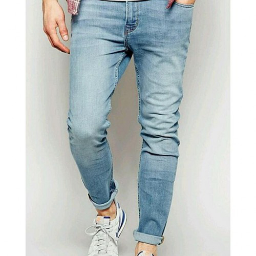Mens Sky Blue Cotton Denim Jeans