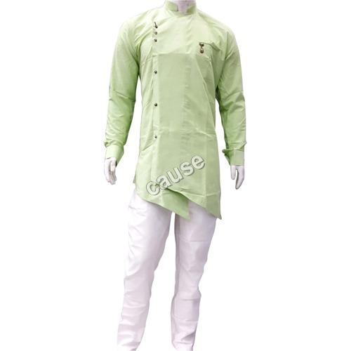 Mens Green Kurta Pajama