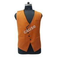 Mens Orange Waistcoat