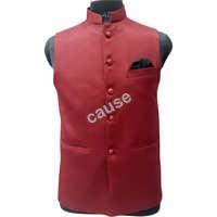 Mens Red Waistcoat