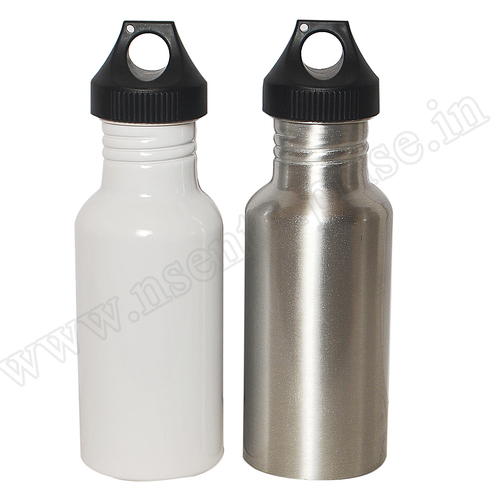 Big Mouth White & Silver Bottle