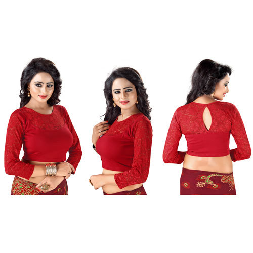 Ladies Designer Velvet Blouse
