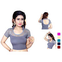 Ladies Half Silk Blouse