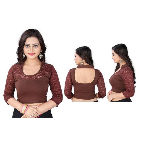 Ladies Full Sleeve Velvet Blouse