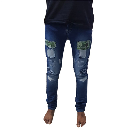 Mens Patch Jeans