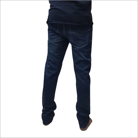 Mens Regular Fit Plain Jeans