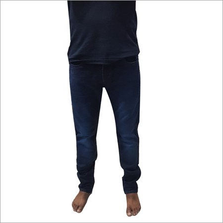Mens Plain Black Jeans