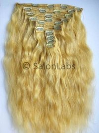 Natural Blonde Clip-On Hair Extensions