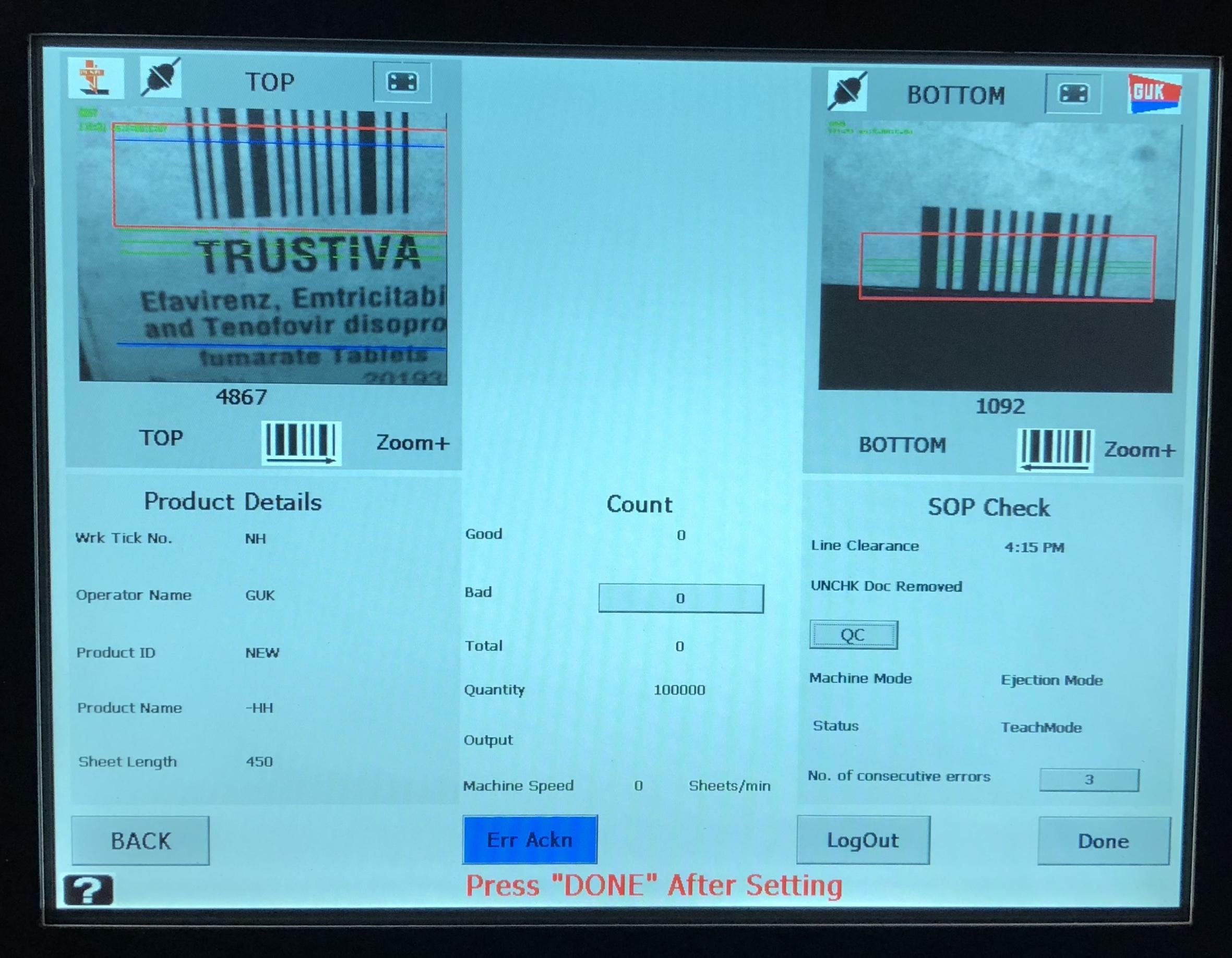 Leaflet Inspection System