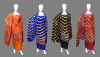 Leheriya Panihari Work Art Silk Dress Material