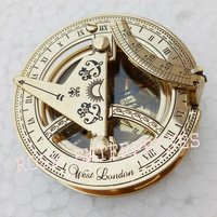 Nautical Brass West London Sundial Compass 2.5