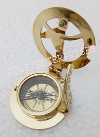 Nautical Vintage Brass West London Sundial Compass 2.5