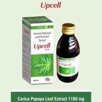 Carica Papaya Leaf 550 mg + Flavoured Syrupy base q.s.