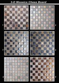 3D Chess Board Pattern Mosaic Tiles