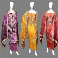 Heavy Work Dupatta With Heavy Neck Work Dress Material