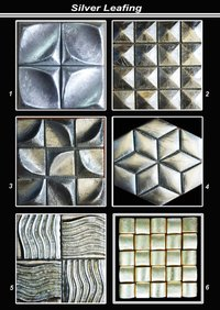 Silver Leafing Texture Tiles