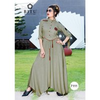 Sabras Miletry Designe Gown Style Long Kurtis Muskaan 2