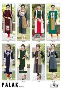 Rayon Designer Kurti Wholesale Palak - 11