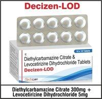 Diethylcarbamazine 300mg + Levocetrizine 5mg