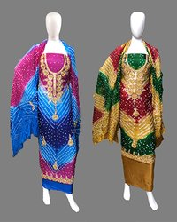 Multi Color Gota Patti Dress Material