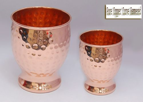 Pure Copper Curvy Hammered Glass