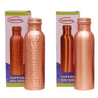 CopperKing Natural Pure Copper Bottle Plain & Hammered