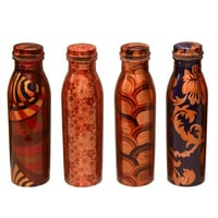 Printed Design  Copper Bottle (Milk Bottle Shape)