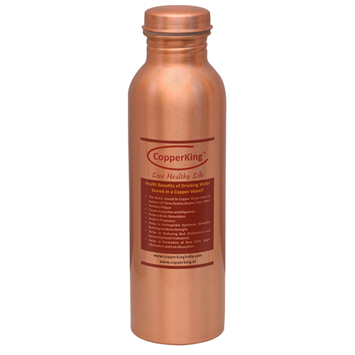 Plain Copper Bottle 1Ltr