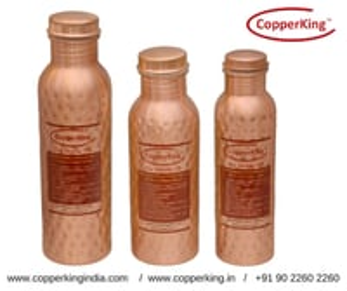 Hammered Copper Bottle (600ml, 750ml, 950ml, )