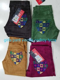Girls Viscos Codroy Lycra Pant