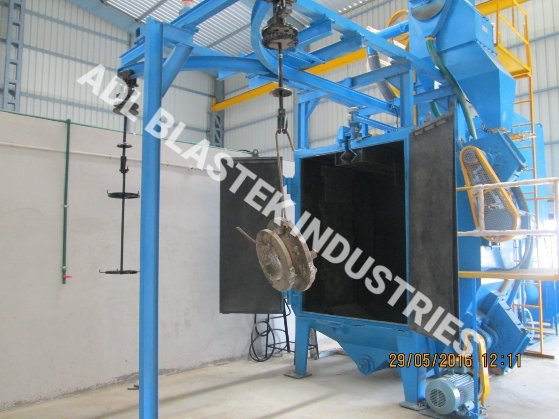 Y-Hanger Shot Type Blasting Machine
