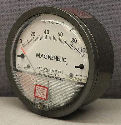 Dwyer USA Model 2100 Magnehelic Gage Range 0-100 Inch WC