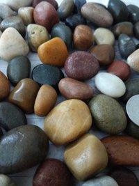 Mix color natural decorative river pebbles