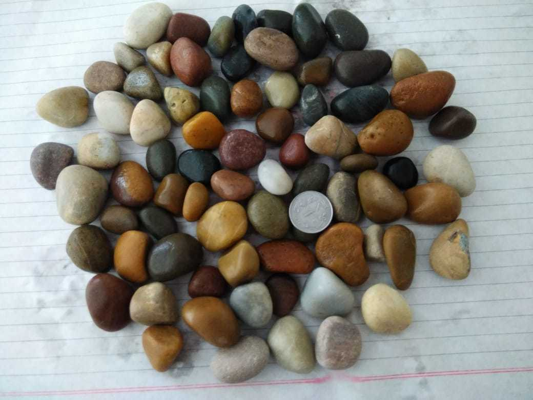 Indian Supply Large Size 30-60 mm Natural River Rock Pebble Stone for Landscaping