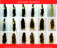 Colored Hair Lengths