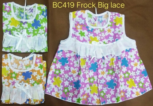 New Born Baby Frock Big Lace