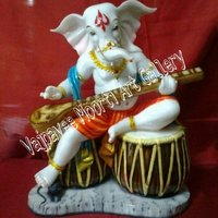 White Stone Ganesha Idols