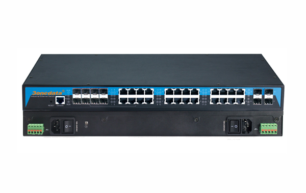 16G+8GC+4*10GbE ports Layer 3 Industrial Ethernet Switch