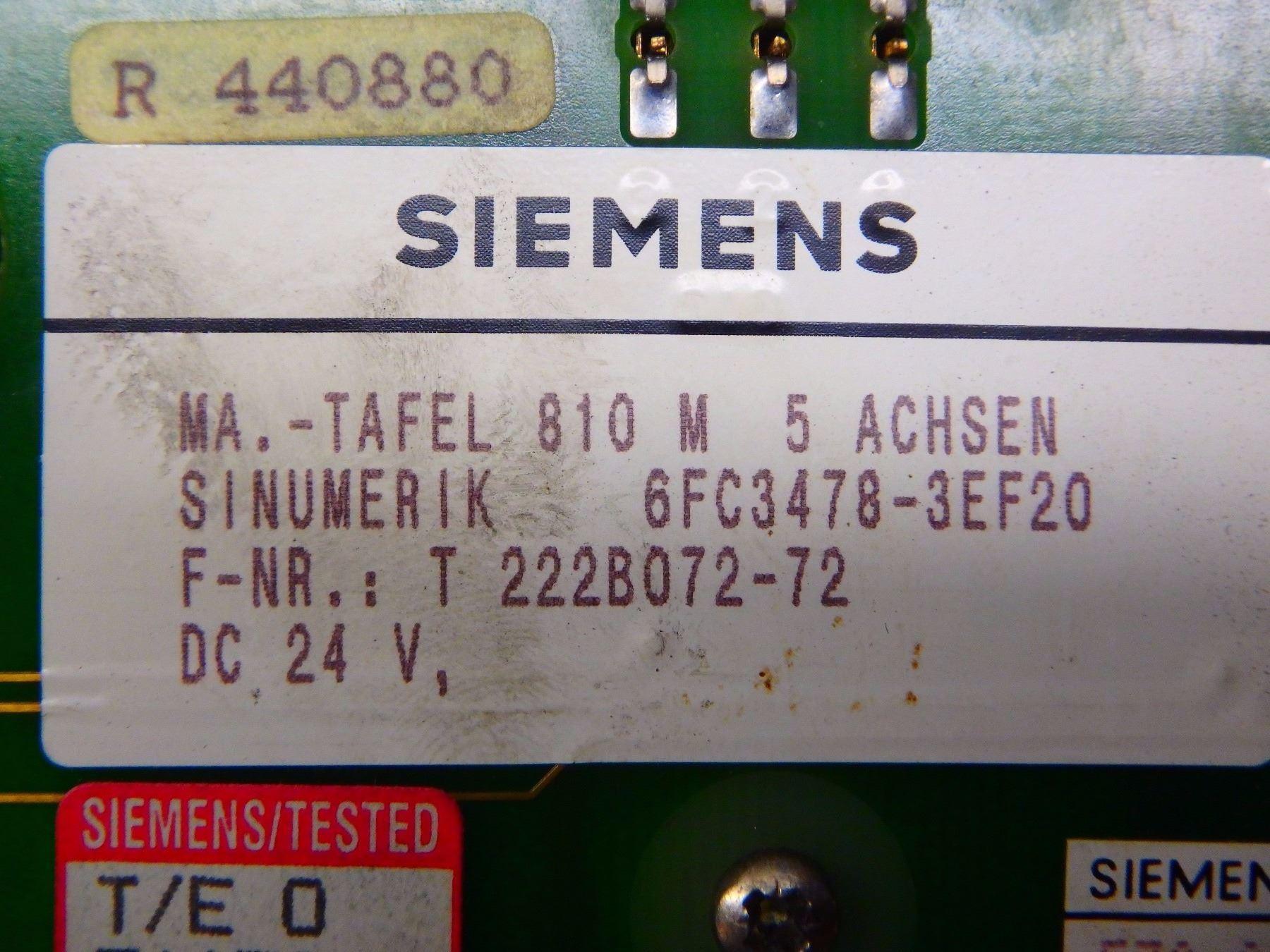 SIEMENS 6FC3478-3EF20