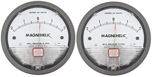 Dwyer USA Model 2304 Magnehelic Gage Range 2-0-2 Inch WC